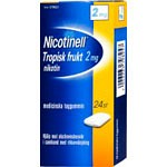 Bild på Nicotinell Tropisk frukt, medicinskt tuggummi 2 mg 24 st