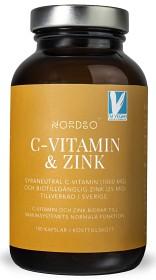 Bild på Nordbo C-vitamin & Zink 100 kapslar