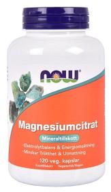 Bild på NOW Magnesiumcitrat 120 kapslar