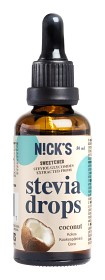 Bild på Nicks Stevia Drops Coconut 50 ml