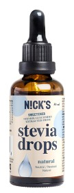 Bild på Nicks Stevia Drops Natural 50 ml