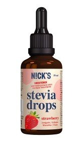 Bild på Nicks Stevia Drops Strawberry 50 ml