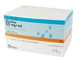 Bild på Oculac, ögondroppar, lösning i endosbehållare 50 mg/ml 120 x 0,4 ml