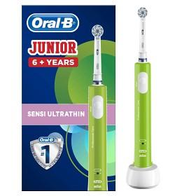 Bild på Oral-B Junior Sensi UltraThin eltandborste Grön
