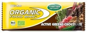 Bild på Organic Food Bar Active Greens Chocolate 70 g
