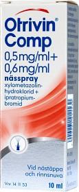 Bild på Otrivin Comp nässpray, lösning 0,5 mg/ml + 0,6 mg/ml 10 ml