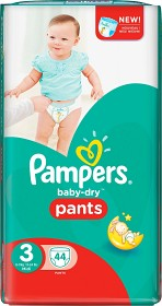 Bild på Pampers Baby-Dry Pants S3 6-11 kg 44 st