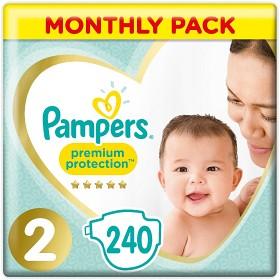 Bild på Pampers Premium Protection blöjor S2 4-8 kg 240 st