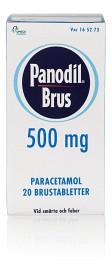 Bild på Panodil Brus 500 mg 20 brustabletter