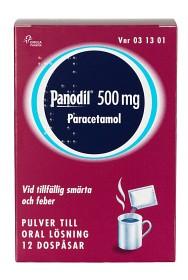 Bild på Panodil, pulver till oral lösning 500 mg 12 dospåsar