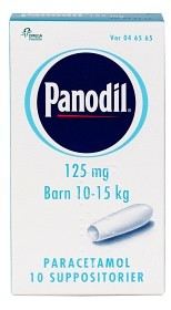 Bild på Panodil, suppositorium 125 mg 10 st