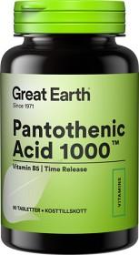 Bild på Great Earth Pantothenic Acid 1000 mg 90 tabletter