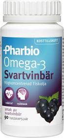 Bild på Pharbio Omega-3 Svartvinbär 90 kapslar