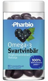 Bild på Pharbio Omega-3 Svartvinbär 80 tuggkapslar