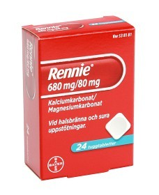 Bild på Rennie, tuggtablett 680 mg/80 mg 24 st