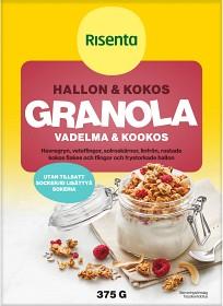 Bild på Risenta Hallon & Kokos Granola 375 g