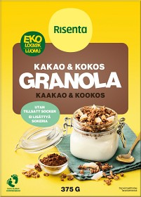 Bild på Risenta Kakao & Kokos Granola 375 g