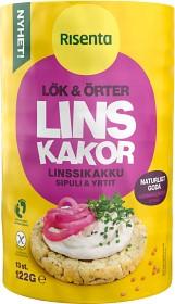 Bild på Risenta Linskakor Lök & Örter 122 g
