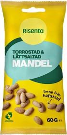 Bild på Risenta Mandel torrostad & lätt saltad 60 g