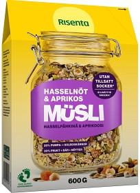 Bild på Risenta Müsli Hasselnöt & Aprikos 600 g