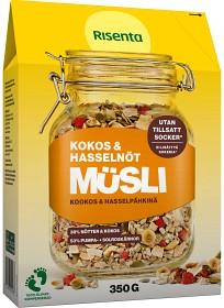 Bild på Risenta Kokos & Hasselnöt Müsli 350 g