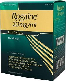 Bild på Rogaine, kutan lösning 20 mg/ml McNeil Sweden AB 3 x 60 ml
