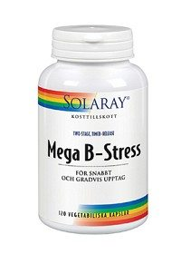 Bild på Solaray Mega B-Stress 120 kapslar