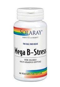 Bild på Solaray Mega B-Stress 60 kapslar
