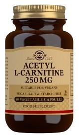 Bild på Solgar Acetyl-L-Carnitine 250 mg 30 kapslar