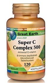 Bild på Great Earth Super C Complex 500 mg 120 tabletter