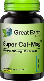 Bild på Great Earth Super Cal-Mag 600/300 mg 100 tabletter