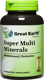 Bild på Great Earth Super Multi Minerals Extra 90 tabletter