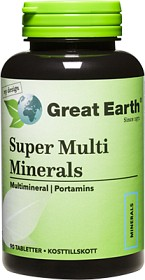 Bild på Great Earth Super Multi Minerals Regular 90 tabletter