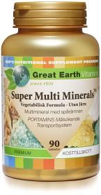Bild på Great Earth Super Multi Minerals utan järn 90 tabletter