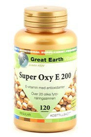 Bild på Great Earth Super Oxy E 200 Regular 120 tabletter
