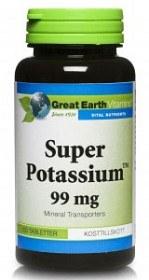 Bild på Great Earth Super Potassium 100 tabletter