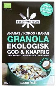 Bild på Superfruit Foods Granola Ananas Kokos Banan 350 g