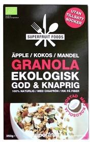 Bild på Superfruit Foods Granola Äpple Kokos Mandel 350 g
