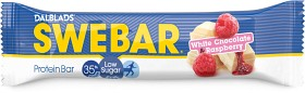 Bild på Swebar Low Sugar White Chocolate & Raspberry 50 g