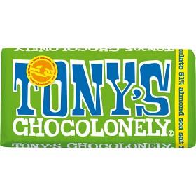 Bild på Tony's Chocolonely Dark Chocolate Almond Seasalt 180 g