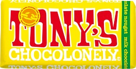 Bild på Tony's Chocolonely Milk Chocolate Almond Honey Nougat 180 g