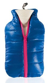 Bild på Värmeflaska Dunjacka blå