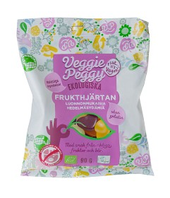 Bild på Veggie Peggy Frukthjärtan 90 g