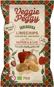 Bild på Veggie Peggy Linschips Paprika & Lök 75 g