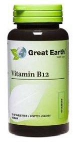 Bild på Great Earth Vitamin B12 500 mcg 210 tabletter