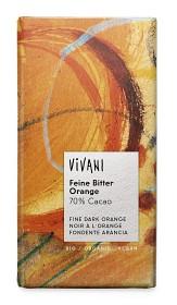 Bild på Vivani Mörk Choklad 70% Apelsin 100 g
