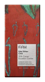 Bild på Vivani Mörk Choklad 70% Chili 100 g