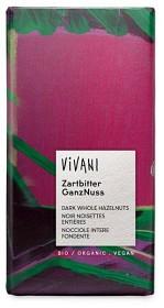 Bild på Vivani Mörk Choklad Hasselnöt 100 g