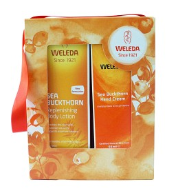 Bild på Weleda Sea Buckthorn Bodylotion + Handkräm