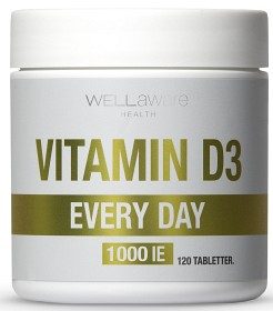 Bild på WellAware Vitamin D3 1000 IE 120 tabletter